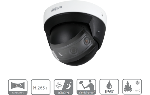 Dahua DH-IPC-PDBW8802-A180.png  180 Degree Dome Multi-Sensor Camera